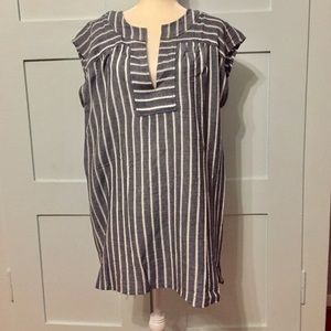 Madewell striped tunic